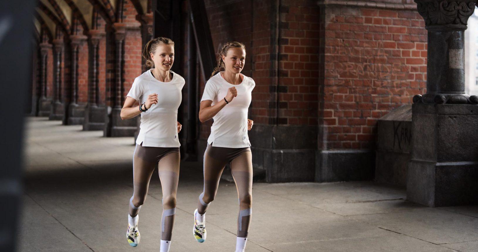 Die Hahnerschwestern beim Training